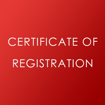 GDPR Certificate of Registration